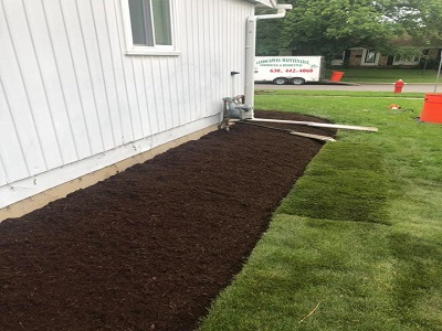 Landscaping sodding and mulching
