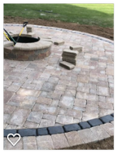 Completed Round Patio Design with Firepit (1)